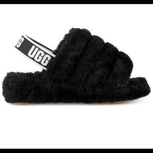 UGG Fluff Yeah Slides Plush Fut Slides Black 8